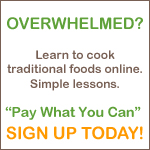 Learn the fundamentals of traditional cooking in a 14-lesson multi-media online class!