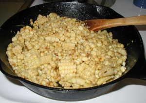 Leftover Corn Skillet