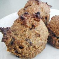 gluten-free spice muffins on white plate
