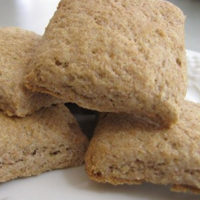 Stack of Sprouted Spelt Biscuits