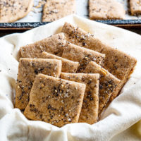 spelt crackers in a napkin
