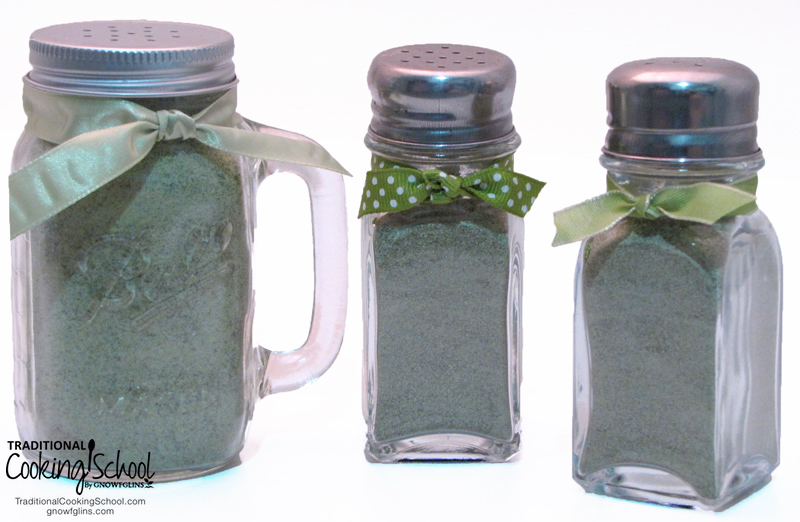 Homemade Herb Seasoning Salt (Similar To Herbamare) | Have you ever had Herbamare? It's a seasoned salt that also has lots of herbs and even kelp for added minerals. This easy recipe is like homemade Herbamare! Keep it in your cupboard to season meats and veggies, or make up a large batch to gift to the ones you love! It's sooooo yummy! | TraditionalCookingSchool.com