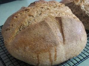 spelt sourdough free-form loaf
