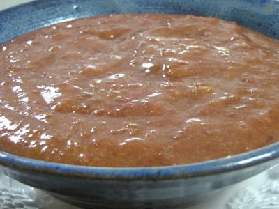 Plum Sauce | This plum sauce is great atop Chocolate Ice Cream, on our favorite breakfast porridge, Genius Breakfast Cereal, or stirred into a bowl of kefir. It is not too sweet and really tasty! | TraditionalCookingSchool.com