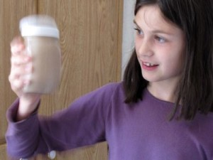 Chocolate Milk: Shake It, Kids! | My sweet B. is the author of this recipe for chocolate milk. She taught it to C. and they make it every day. It doesn't require sweetening - our raw goat ... | TraditionalCookingSchool.com