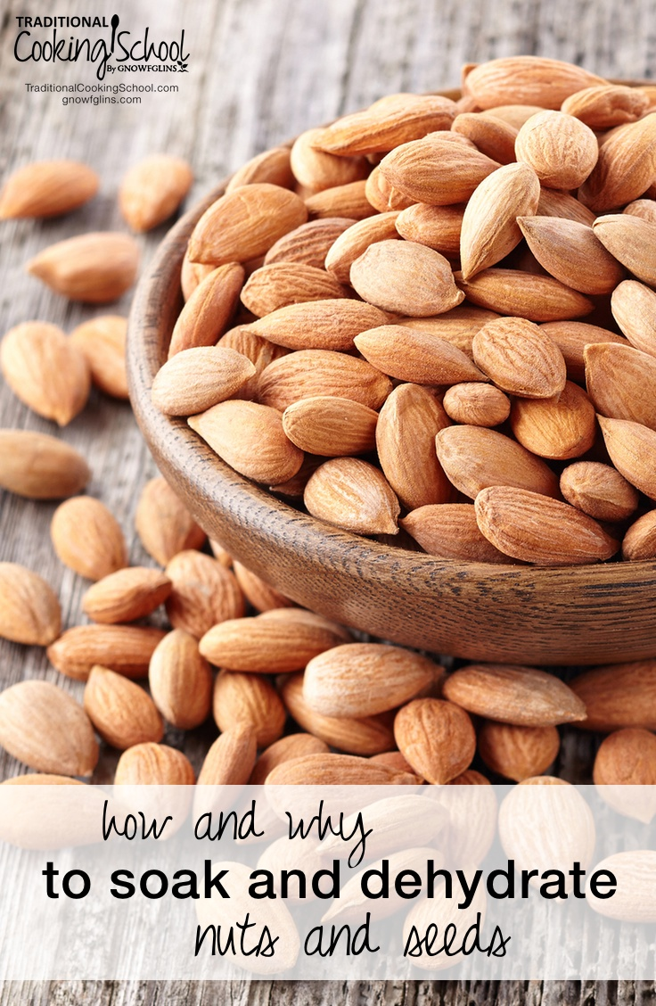 How And Why To Soak And Dehydrate Nuts And Seeds | Do you feel like you could never possibly learn how to soak and dehydrate nuts and seeds? Is it really necessary? What are the benefits? I want to tell you two things: 1) You can do it! and 2) It is important! | TraditionalCookingSchool.com