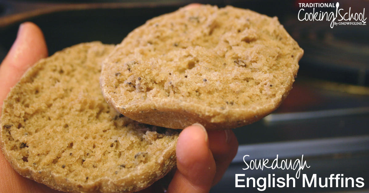 Easy sourdough english muffins traditional cooking school forumfinder Image collections