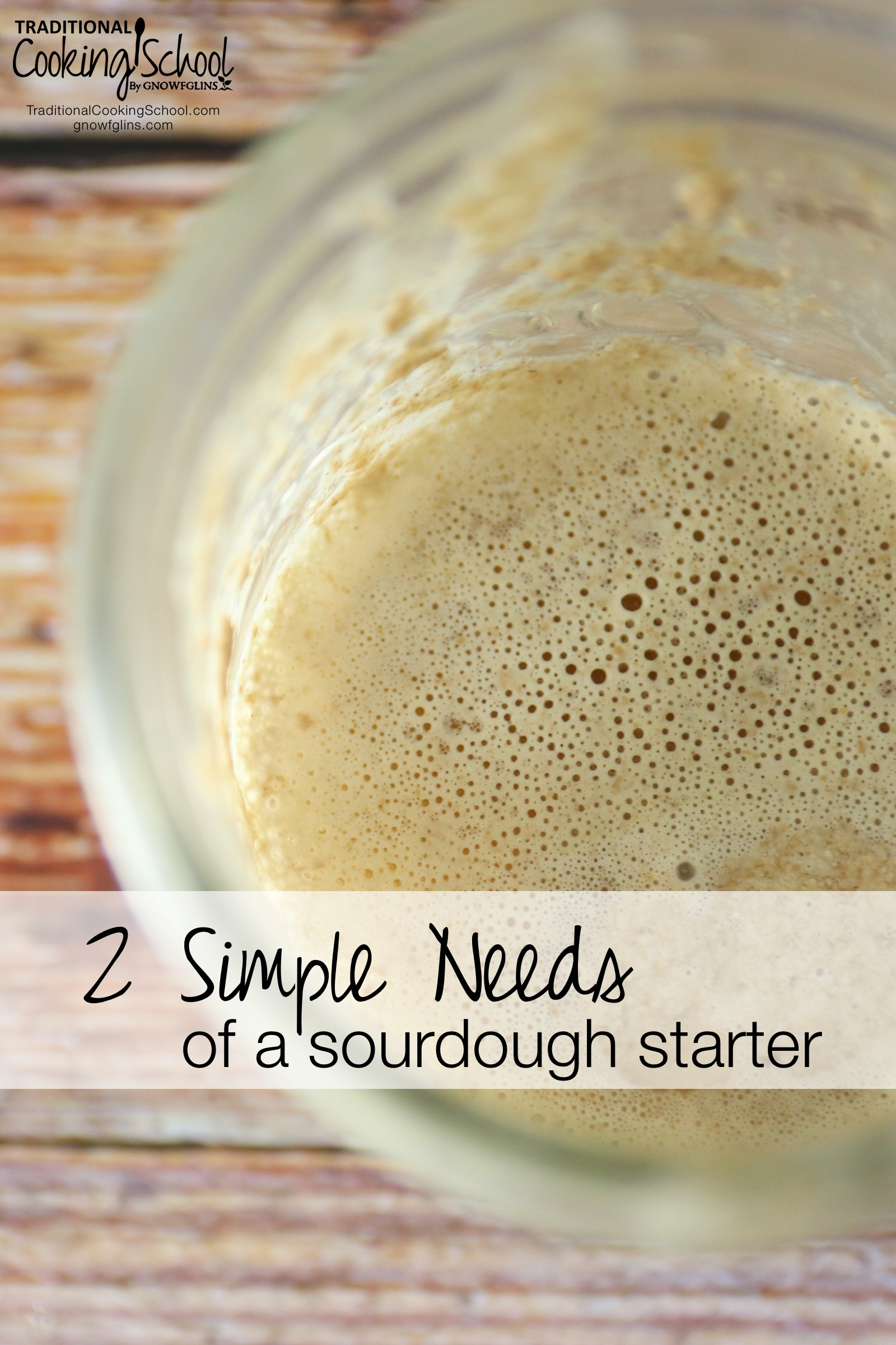 2 Simple Needs Of A Sourdough Starter | Some discussions on sourdough can overcomplicate a very simple process. Yet It's really simple... Basically, you only have to keep in mind 2 things... and that's it! Your starter will be very happy and do very good things for you! | TraditionalCookingSchool.com