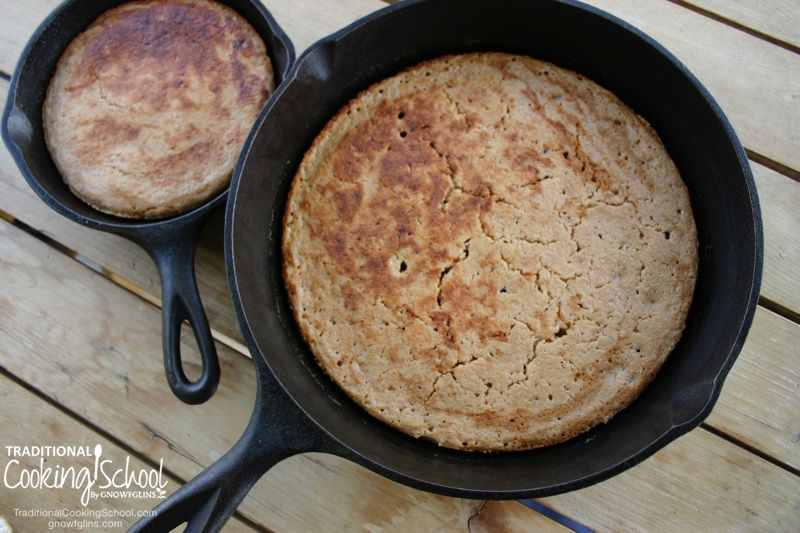 Erin's Oh-So-Fluffy Sourdough Pancakes | Quick and easy, delicious and nutritious, sourdough pancakes are our favorite breakfast! Here's my recipe for easy fluffy-beyond-your-wildest-dreams pancakes even the kids will love! | TraditionalCookingSchool.com