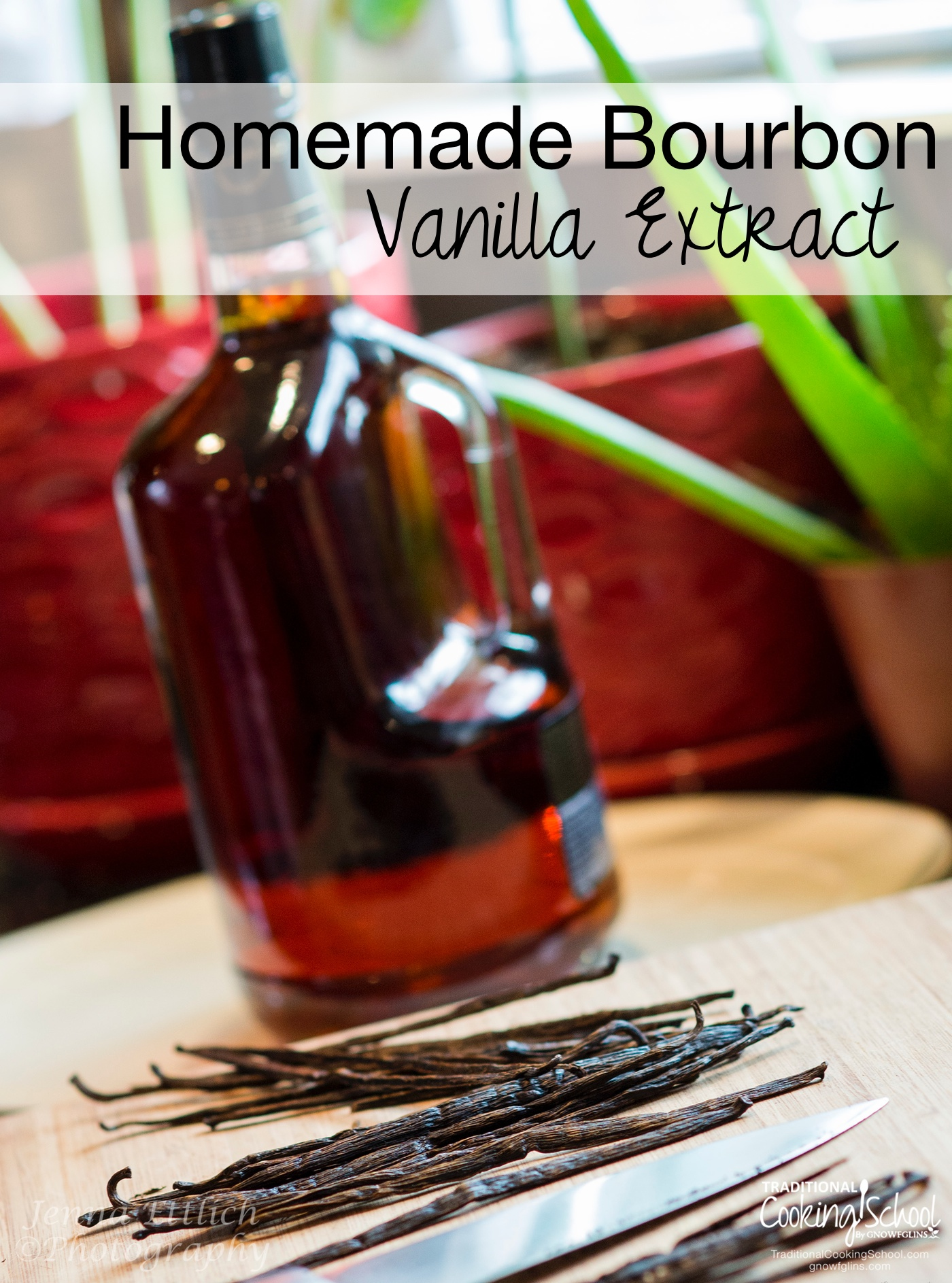 Homemade Bourbon Vanilla Extract | One of the best and most simple things I've ever done is make my own vanilla extract. And bourbon vanilla, at that. Our homemade ice cream is 500 times better for it, plus everything else we make! | TraditionalCookingSchool.com
