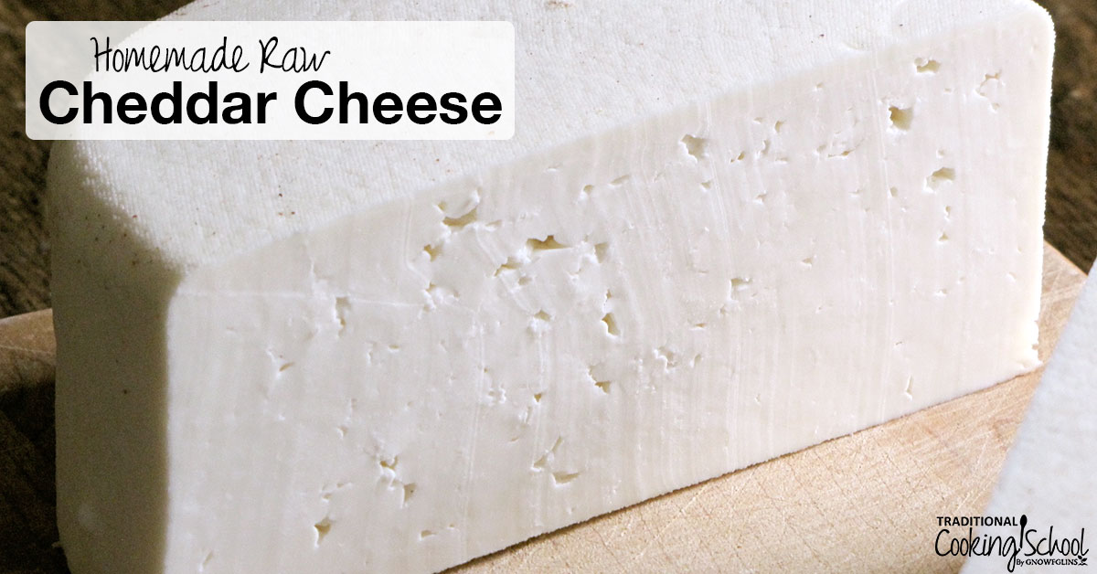 how to make homemade cheddar cheese