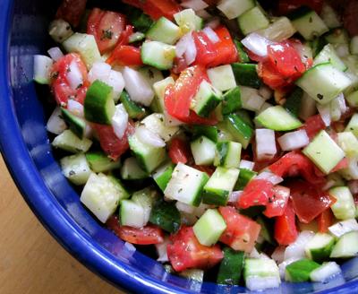 cucumber/tomato/mint salad