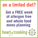 Delicious and healthy meal plans for people with food allergies, celiac disease or any other condition which limits one's diet.