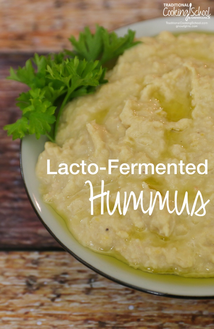 Lacto-Fermented Hummus | Yesterday, I made our family's traditional hummus -- a recipe handed down from my grandmother and namesake, Tata Wardee. However, there was a difference: this time I lacto-fermented it! Yeah, yeah, by now you know that I try to ferment just about everything. | TraditionalCookingSchool.com