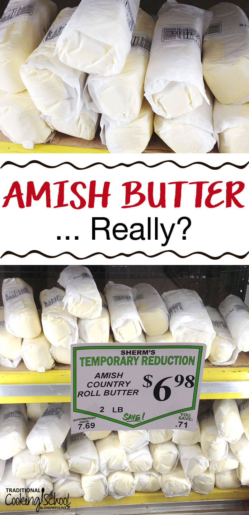 Amish Butter: Really?