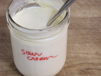 how to get sour cream to room temperature