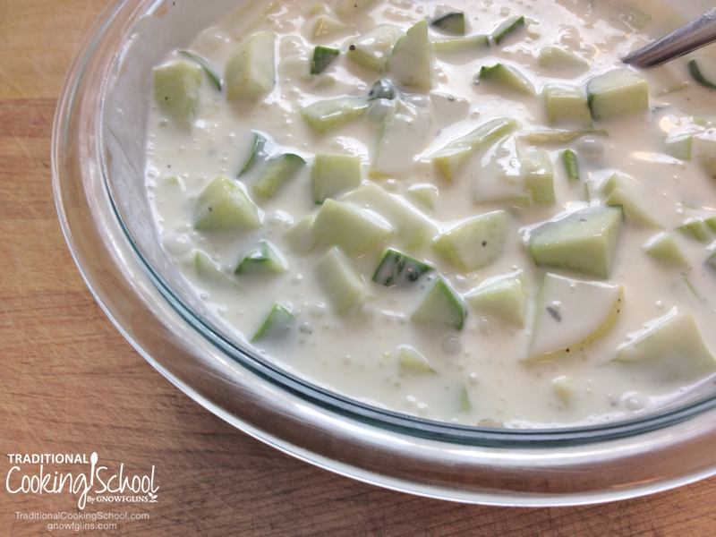 6 Delicious Dishes To Make With Cucumbers | Here's a set of delicious recipes using fresh, seasonal, summer cucumbers. You'll probably notice that most of these recipes have a Mediterranean bent. That's because I grew up eating these foods, and cucumbers are a large part of the cuisine. When you have cucumbers coming out your ears, these recipes will help you use them up without being bored. | TraditionalCookingSchool.com