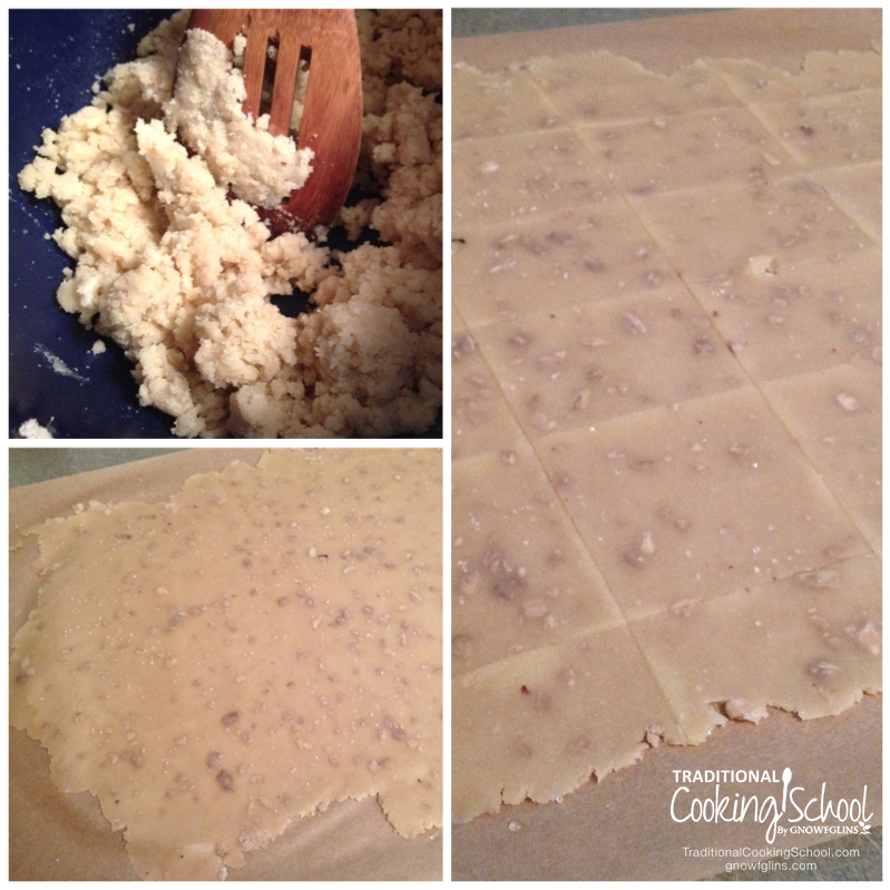 Grain-Free Almond Sunny Seed Crackers | Behold the nutty, crisp, and delicious grain-free crackers that satisfy a huge craving while we're on the GAPS diet. They go so well with so many foods -- yogurt cheese or cheese, salmon salad, egg salad, almond butter, and more. | TraditionalCookingSchool.com