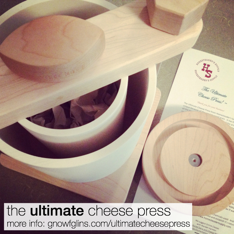 The Ultimate Cheese Press Is Updated! (New Video) | Just a quick note this Saturday morning to share news of my favorite cheese press, the Ultimate Cheese Press from Homesteader Supply. It's design is improved, it's now being made from hardwood maple, and it's being seasoned with organic coconut oil! The bit about seasoning is the best part. Jerri from Homesteader Supply heard my request to give us a press that's got an oil we love to use -- and she listened. | TraditionalCookingSchool.com