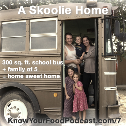 Delgado family in their skoolie