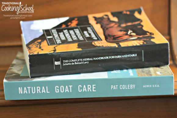 Two books on naturally caring for goats with herbs.