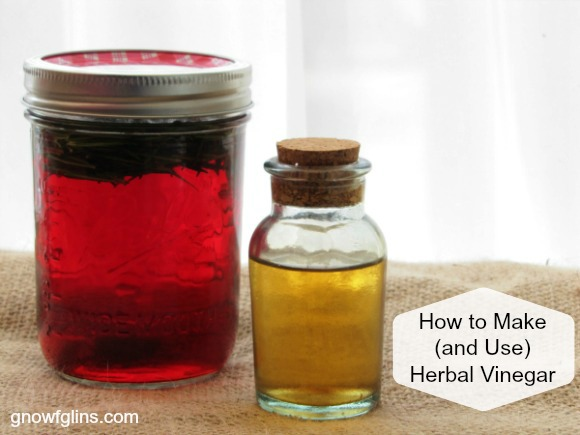 Ever wanted to know how those fancy herbal vinegars are made? Now you can. It's easy! And we share some great uses (including cosmetics). | TraditionalCookingSchool.com