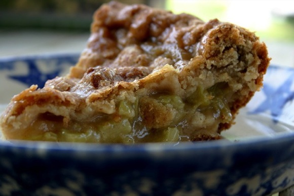 "Celebrations bring smiles, perspective, a lightness and often a refreshing momentary distraction. And what better way to celebrate than with a slice of homemade rhubarb pie! Mama says, ""Pie for breakfast, everyone! Grab your forks. We are celebrating!"" 
