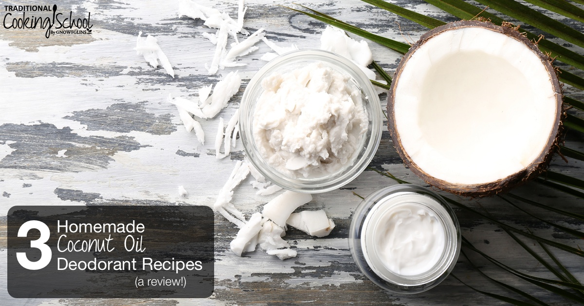 3 Homemade Deodorant Recipes -- A