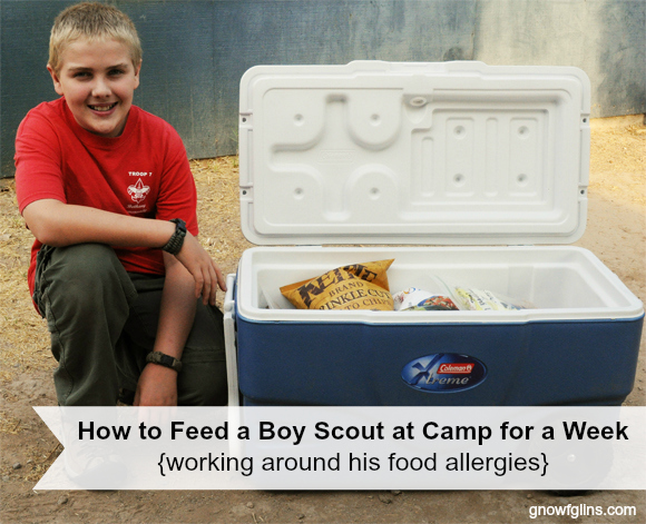 Boy Scout with Food Allergies