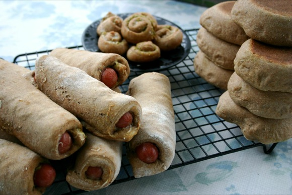Sourdough Hot Dog Wraps | Do you have fond memories of hot dogs wrapped in a certain store bought cresent dough? This recipe is a nod to those sweet memories, as well as to the satisfying smiles that come from an even tastier and healthier sourdough version. | TraditionalCookingSchool.com