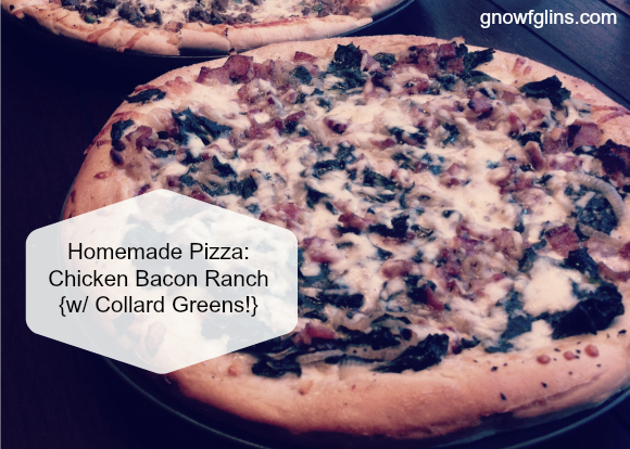 """Homemade Pizza: Chicken Bacon Ranch 