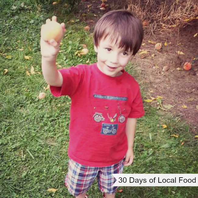 30 Days of Local Food | For fun, my family and I did an experiment for the month of August. We talk a lot about eating local food, and were already purchasing quite a bit from local sources – but could we buy only locally produced food for an entire month? We wanted to find out, so we gave it a try. Boy, did we learn a lot! | TraditionalCookingSchool.com