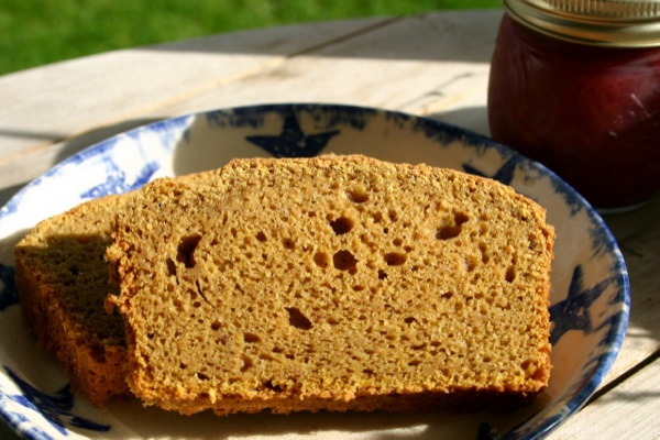 Sourdough Pumpkin Bread | Wool blankets, cozy slippers, candles, and pumpkin all walk hand in hand when autumn rolls around up here in the north. Warm drinks and pumpkin bread are welcome on days like this. | TraditionalCookingSchool.com