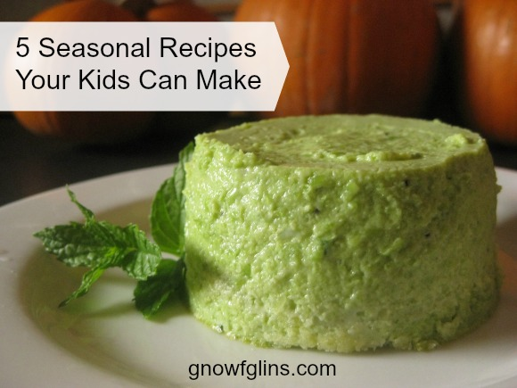 5 Seasonal Recipes Your Kids Can Make | In our homeschool, one of my seven-year-old daughter's favorite classes is Cooking Class. Yes, it is a big official name for an activity that most of the time is merely her helping me make dinner. But she feels important and we DO do special cooking projects as well. | TraditionalCookingSchool.com