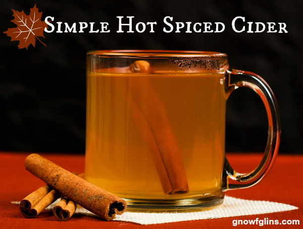 Simple Hot Spiced Cider | Put this simple and fragrant cider on the burner for family or friends to enjoy while you're visiting. It's easy and delicious, and especially lovely when you use fresh-pressed apples! | TraditionalCookingSchool.com