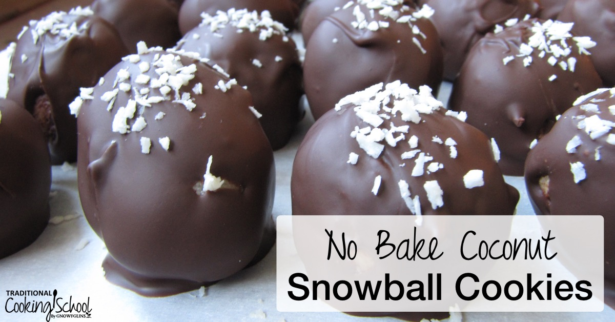 No Bake Coconut Snowball Cookies