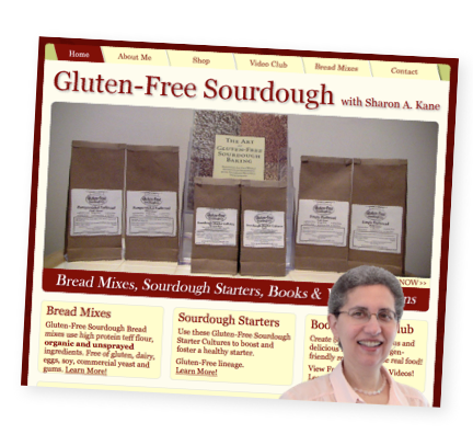 Gluten-Free Sourdough Bread (with Video) | Healthy gluten-free sourdough? Yes, it's totally possible... and it's delicious! Sharon Kane, the expert gluten-free baker behind Gluten-Free Sourdough Company, has launched a product line of gluten-free sourdough bread mixes and starters. She sent me a few mixes to try, and my family absolutely loves them. I made a video to show you how how easy and wonderful they are! | TraditionalCookingSchool.com