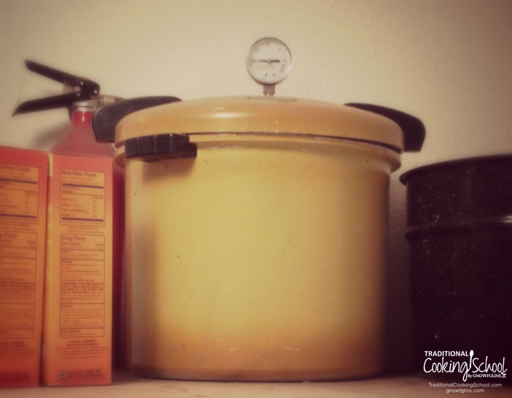 Getting Started with Pressure Cooking | For a long time, I have been against pressure canning and pressure cooking. Pressure canning, at least, is discouraged in Nourishing Traditions as nutrient destroyer. And traditional food lovers seem to follow an unwritten rule that anything cooked or canned under pressure must be suspect. I am not against pressure canning or cooking any more. Today I want to share why I've changed my tune, plus resources so you can get started, too! | TraditionalCookingSchool.com