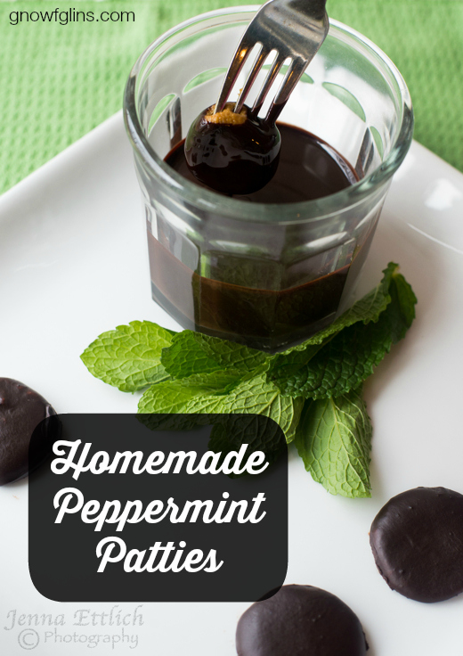 Homemade Peppermint Patties | Today, I'm really thrilled to share my homemade peppermint patties -- a treat my family loves. Only I've made them a little more nutritious. Enjoy the minty freshness -- not only will you catch the attention of your loved ones' taste buds, you'll give them a relatively healthy sweet treat! | TraditionalCookingSchool.com