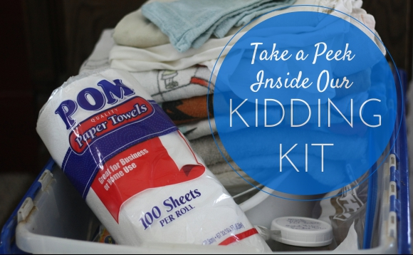 You've Gotta Be Kidding! Helpful Tips and Kidding Kit | Kidding season is almost upon us and we couldn't be more excited! Baby goats are simply the best -- I can't wait to meet the kids that I've already felt kicking around in their momma's bellies. I will be sharing how we support the does through their pregnancies, what we keep in our kidding kit, and the tools we use to give the babies the best welcome into the world! I'll also share what a typical kidding looks like and some resources to help you, just in case things don't go textbook-perfect. | TraditionalCookingSchool.com