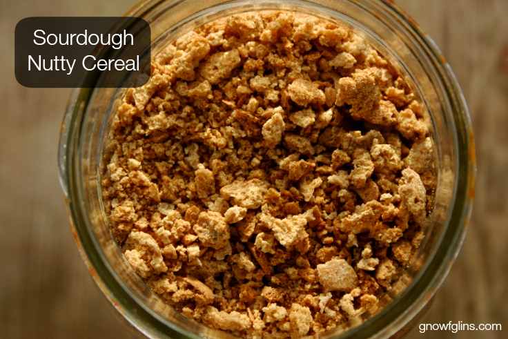 Sourdough Nutty Cereal | Who has given up a favorite cereal for the sake of trying to live an unprocessed life? If you've ever been a Grape Nuts lover, this cereal is so spot-on, I will be surprised if it doesn't bring you back. After my first bite, I went back in time to standing in my college dorm room finishing up a little breakfast before starting my day of classes. | TraditionalCookingSchool.com