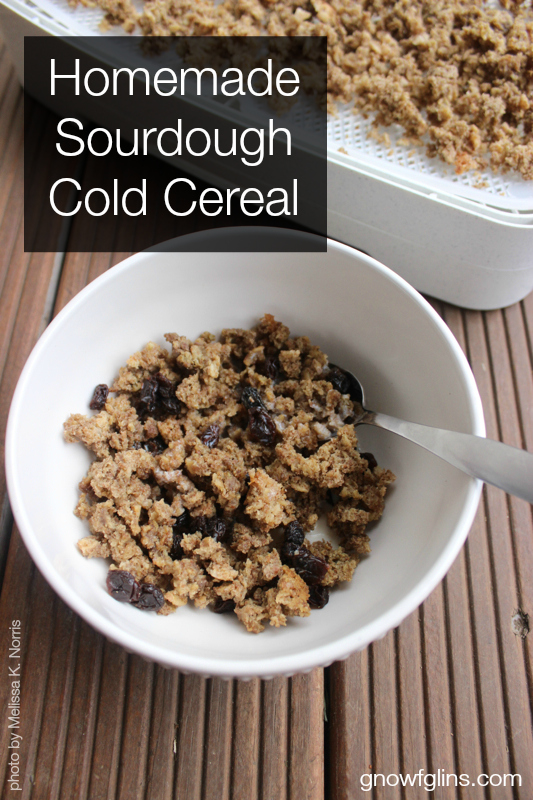 Homemade Sourdough Cold Cereal | It's been fun to tackle the cereal challenge over the years, discovering everyone's preferences and searching for the perfect crunchy texture. This may sound silly, but we like a cereal that doesn't immediately go soggy once submerged in milk. For a long time, I achieved all of this with my oven, but my husband blessed me with an Excalibur dehydrator this last Christmas, which has greatly improved the texture of our cereal! | TraditionalCookingSchool.com