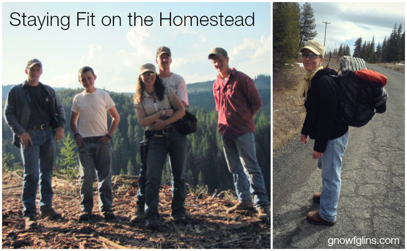 Staying Fit on the Homestead   Eating healthfully is very important. However, there's another side of the coin: it's also very important to stay healthy through activity and fitness. We are aging and we need to keep up with our homestead's work load. Also, in the case of an emergency, we may need to fend for ourselves, confront challenging situations, and sustain a high level of endurance. Here's how my family and I stay fit on the homestead -- no gym required.   TraditionalCookingSchool.com
