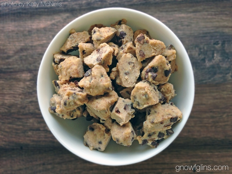 Chocolate Chip Cookie Dough Ice Cream | Nothing beats the heat of August like a few scoops of ice cream. We almost always have homemade ice cream in the freezer. When you take the time to make ice cream from scratch with nourishing ingredients, your reward is a healthy food. This ice cream could be eaten for breakfast without too much guilt! Plus, how to make it in a ziploc! | TraditionalCookingSchool.com