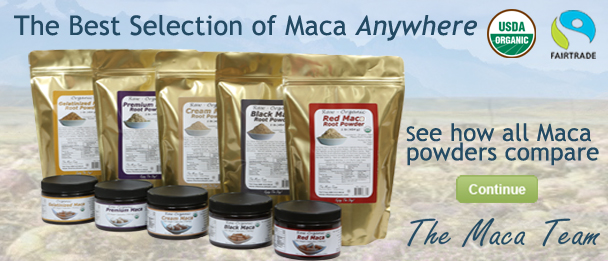 photo of an array of maca powders from The Maca Team