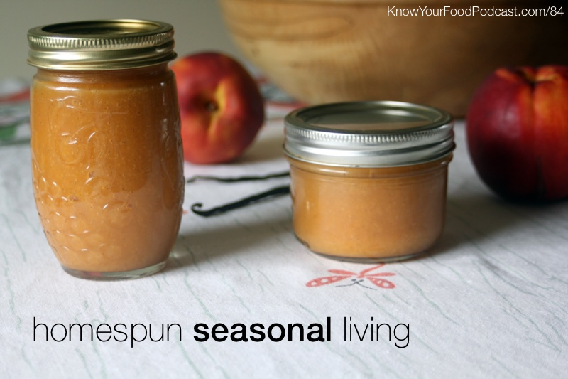 Homespun Seasonal Living | Lover of glass jars and honey bees, Kathie embraces seasonal living in the Flathead Valley of Montana. She's a writer and teacher and shares her love of simple living and creativity both locally and online at her blog, Homespun Seasonal Living. Get to know Kathie through this podcast. Plus... the tip of the week! | KnowYourFoodPodcast.com/84
