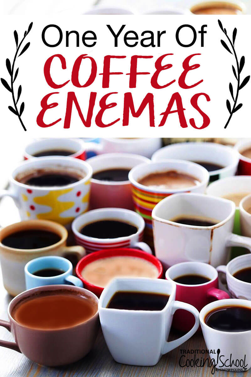 Dozens of cups of coffee with text overlay
