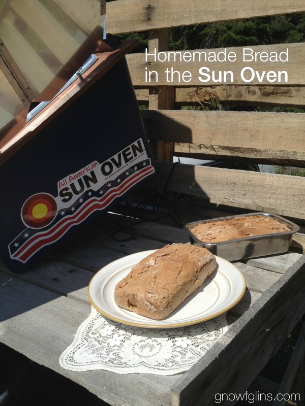 Homemade Bread in the Sun Oven | Baking bread in a sun oven is so easy -- it yields bread with a nicely browned crust and a moist, soft inside, plus keeps your house from getting too warm in the summer and saves electricity. Plus, you get to pull up a chair and read a bit while it bakes! | TraditionalCookingSchool.com