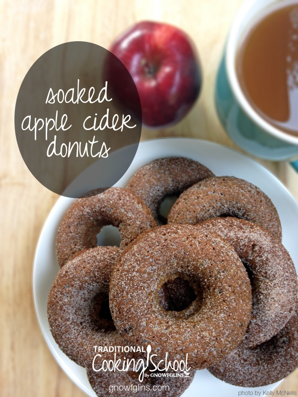 "Apple cider is almost as iconic as colored leaves. It shouts cheerfully ""Fall is here! Fall is here!"" As families flock to pick apples, orchards offer the ever-popular treat: apple cider flavored donuts. The common recipe is easy to spruce up and make real food friendly at home. And of course, it's best enjoyed with a warm beverage for dunking! 