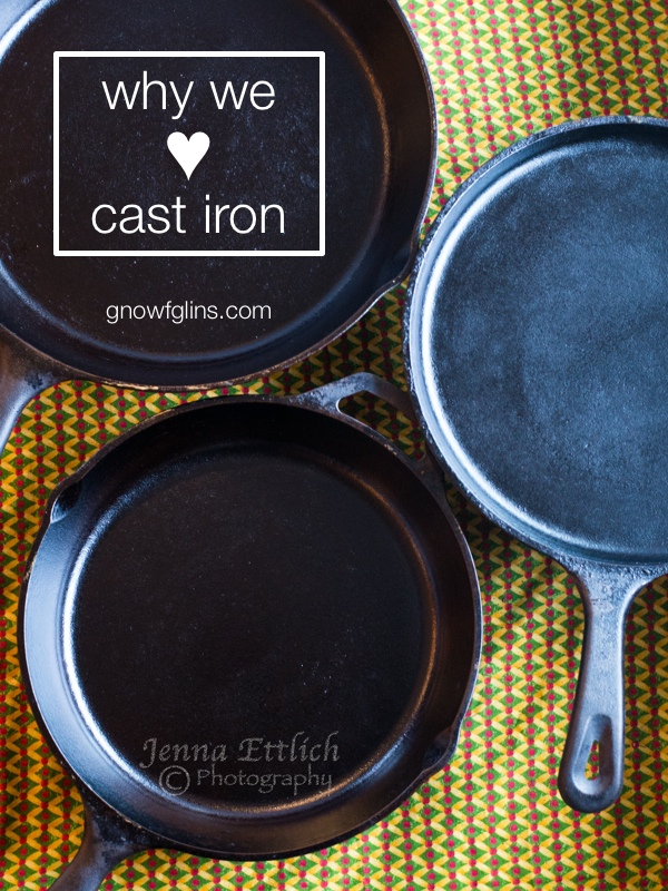 "Why We Love Cast Iron | My husband asked about the black specks in the mashed potatoes. ""Oh, that's just my frying pan. The non-stick coating is wearing away."" Then he brought home a box of old cast iron pans from a garage sale. I ignored them as long as I could, but now? I'm the biggest fan ever -- here's why we love cast iron. 